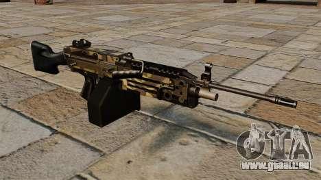 La mitrailleuse légère M249 Camo pour GTA 4