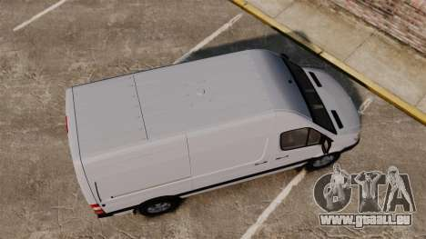 Mercedes-Benz Sprinter 2500 2011 v1.4 pour GTA 4 est un droit