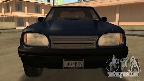 Bobcat HD from GTA 3 pour GTA San Andreas laissé vue