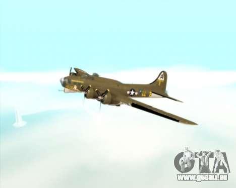 B-17G für GTA San Andreas Seitenansicht