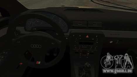 Audi S4 2004 pour GTA 4 est une vue de l'intérieur