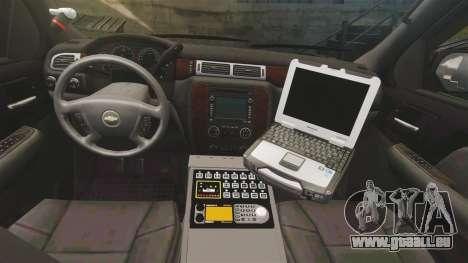 Chevrolet Tahoe Police [ELS] für GTA 4 Rückansicht