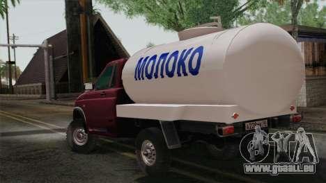 UAZ-2360-Milch für GTA San Andreas linke Ansicht