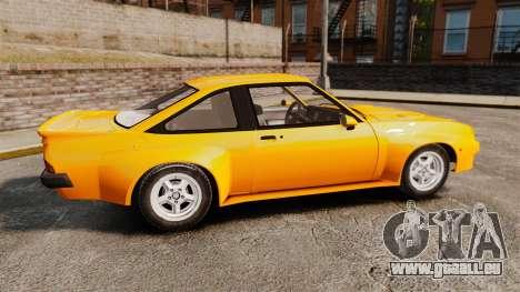 Opel Manta pour GTA 4 est une gauche