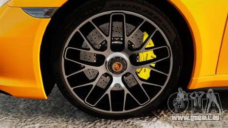 Porsche 911 Turbo 2014 [EPM] pour GTA 4 Vue arrière
