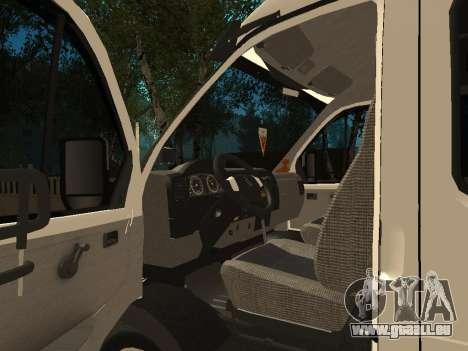 Business 33023 gazelle pour GTA San Andreas vue arrière
