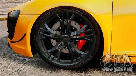 Audi R8 GT Spyder pour GTA 4 Vue arrière