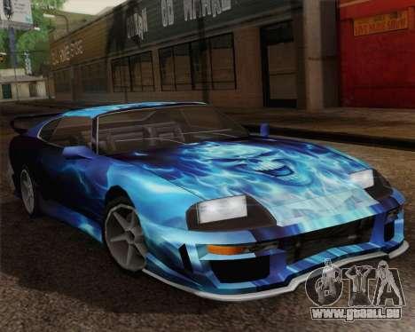 Les travaux de peinture pour Jester pour GTA San Andreas vue de droite