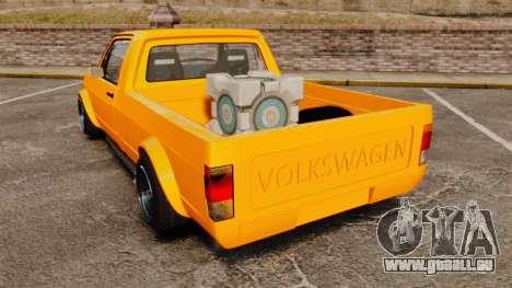 Volkswagen Caddy pour GTA 4 Vue arrière de la gauche