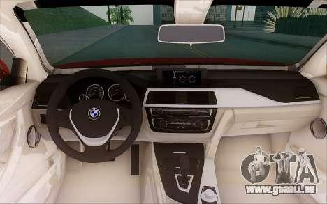 BMW 435i pour GTA San Andreas vue intérieure