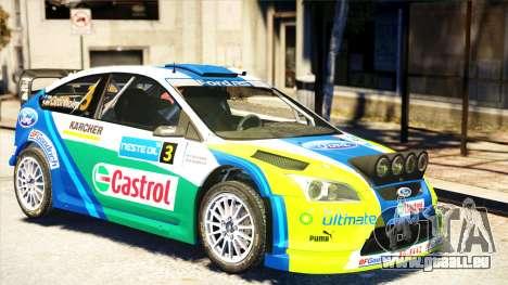 Ford Focus RS M Gronholm Rally Finland WRC pour GTA 4 Vue arrière de la gauche