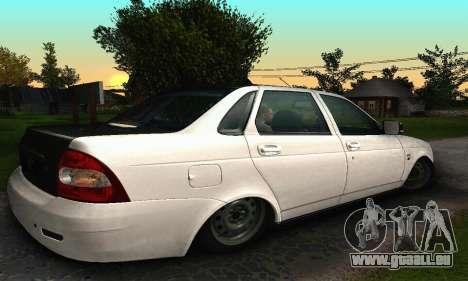2170 De LADA Priora blanc & noir pour GTA San Andreas sur la vue arrière gauche