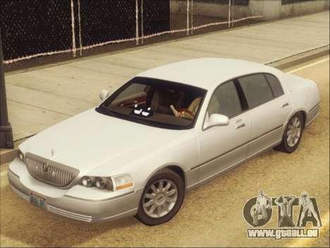 Lincoln Town Car 2010 pour GTA San Andreas vue intérieure