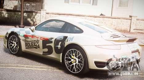 Porsche 911 Turbo 2014 pour GTA 4 est une vue de l'intérieur