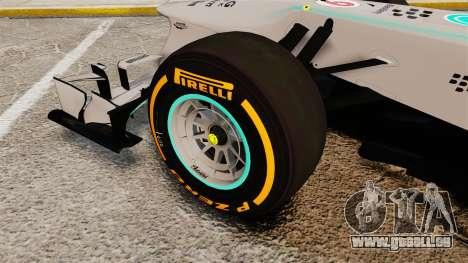 Mercedes AMG F1 W04 v3 für GTA 4 Rückansicht