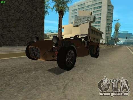 Caterham 7 Superlight R500 pour GTA San Andreas vue de droite