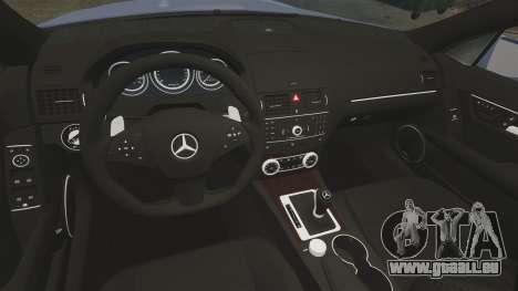 Mercedes-Benz C63 AMG 2010 pour GTA 4 est une vue de l'intérieur