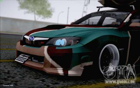 Subaru Impreza Arma pour GTA San Andreas laissé vue