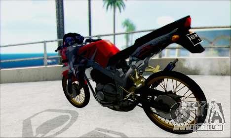 Kawasaki 150L Ninja Series pour GTA San Andreas laissé vue
