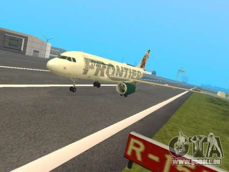 Airbus A319-111 Frontier Airlines Red Foxy für GTA San Andreas