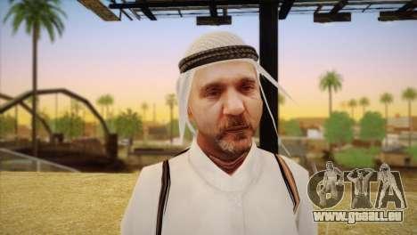 Cheikh arabe pour GTA San Andreas troisième écran