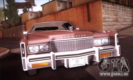 Cadillac Eldorado 1978 Coupe für GTA San Andreas Rückansicht