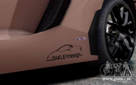 Lamborghini Aventador LP760-4 Oakley Design pour GTA 4 est un côté