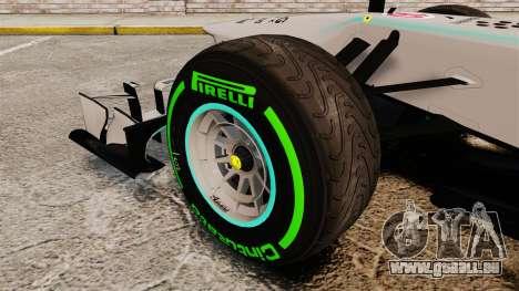 Mercedes AMG F1 W04 v4 pour GTA 4 Vue arrière
