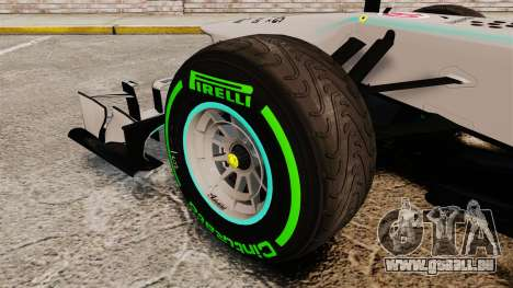 Mercedes AMG F1 W04 v4 für GTA 4 Rückansicht