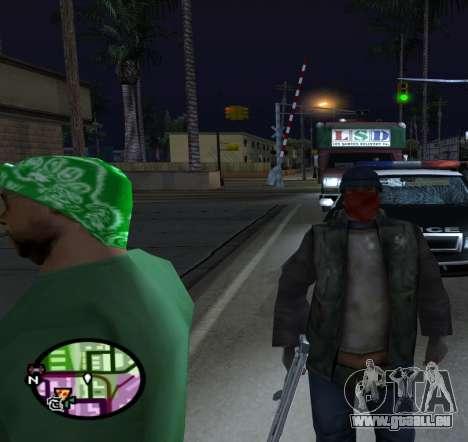 Clochards pour GTA San Andreas troisième écran