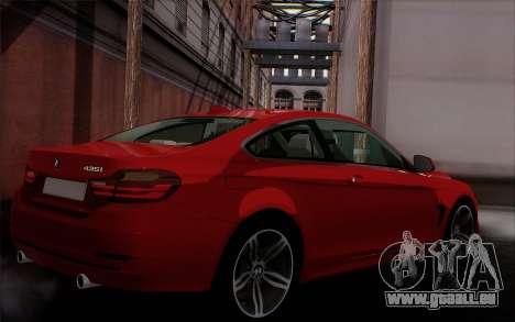 BMW 435i pour GTA San Andreas laissé vue