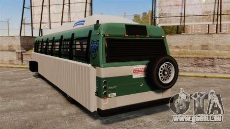Gepanzerter bus für GTA 4 hinten links Ansicht