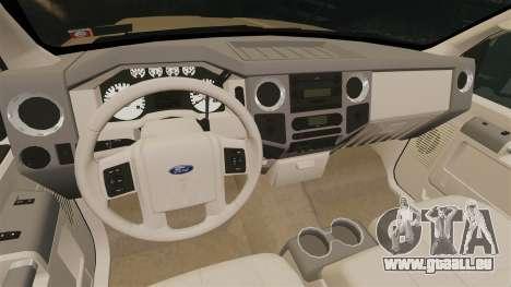 Ford F-350 Pitbull pour GTA 4 est une vue de l'intérieur