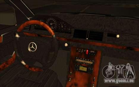 Mercedes-Benz E420 v2.0 pour GTA San Andreas vue arrière