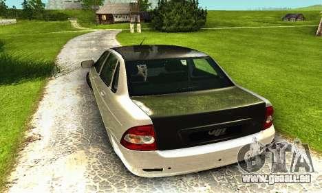 2170 De LADA Priora blanc & noir pour GTA San Andreas vue arrière