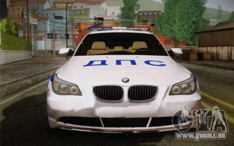BMW 530xd DPS pour GTA San Andreas laissé vue