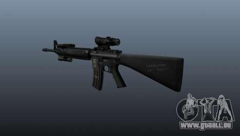 Fusil d'assaut AEG M16A4 pour GTA 4 secondes d'écran