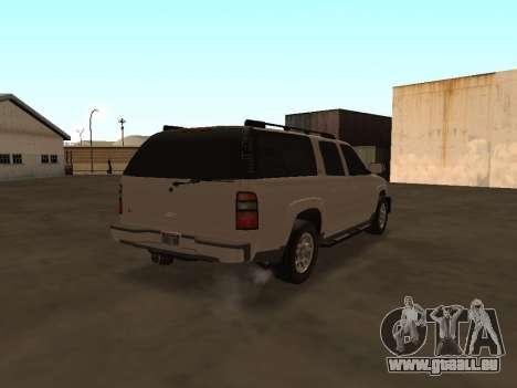 Chevrolet Suburban ATTF pour GTA San Andreas vue de droite