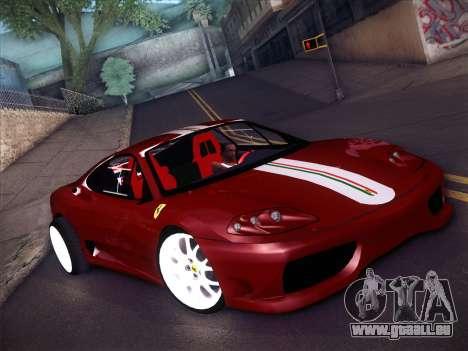 Ferrari 360 Challenge Stradale pour GTA San Andreas laissé vue