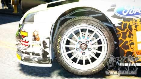 Ford Focus RS Monster World Rally Team WRC pour GTA 4 est un droit