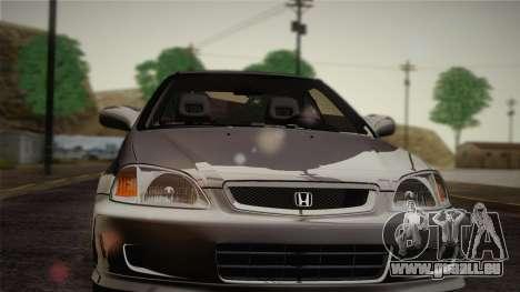 Honda Civic Si 1999 Coupe für GTA San Andreas Innenansicht