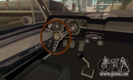 Shelby GT500 E v2.0 für GTA San Andreas Rückansicht
