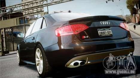 Audi S4 2010 pour GTA 4 Vue arrière de la gauche