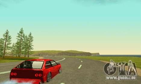 VAZ 2108 TAMR Style pour GTA San Andreas vue arrière