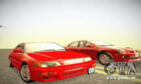 Honda CRX - Stock für GTA San Andreas Rückansicht