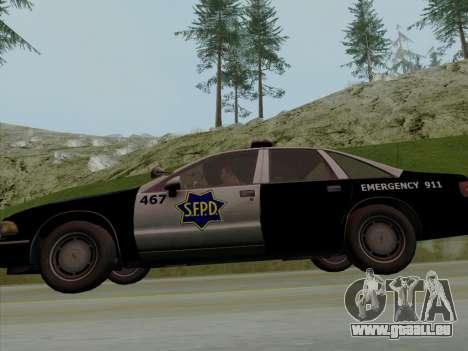 Chevrolet Caprice SFPD 1991 pour GTA San Andreas vue de côté