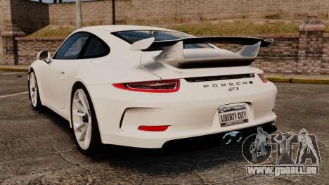 Porsche 911 GT3 (991) 2013 pour GTA 4 Vue arrière de la gauche