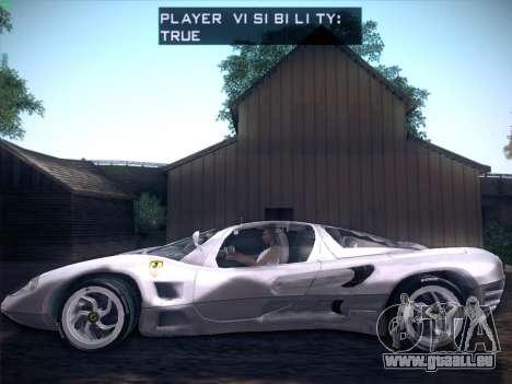 Ferrari P7 Chromo für GTA San Andreas Rückansicht