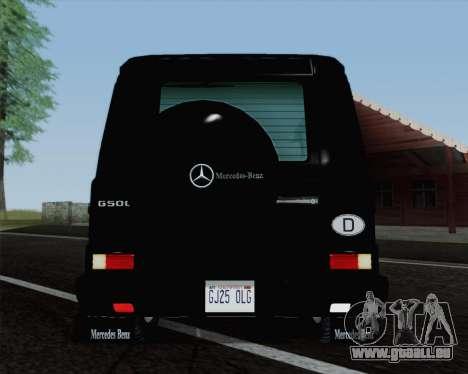 Mercedes-Benz G500 1999 Short für GTA San Andreas Rückansicht