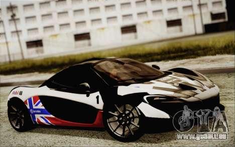 McLaren P1 2014 v2 pour GTA San Andreas vue intérieure